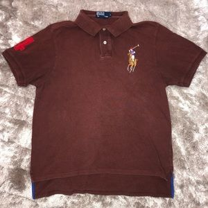 Vintage POLO Ralph Lauren Brown Big Pony Polo L